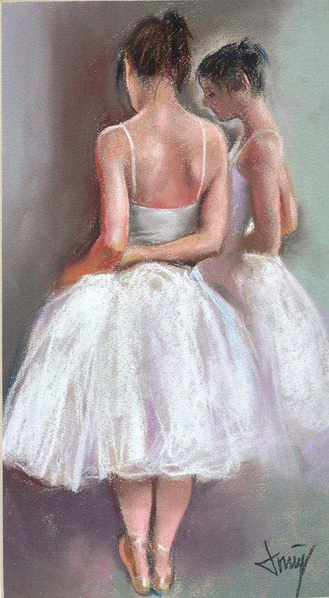 Belleza de Ballet II by domingo -  sized 7x12 inches. Available from Whitewall Galleries